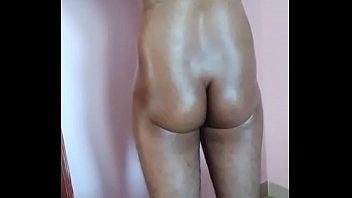 Indian boy oily body before bath