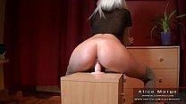 Big Butt Teen Girl and Dildo Toy! AliceMargo.com