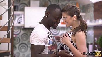 BLACK4K. Interracial love of tender teen Evelina Darling and caring black guy