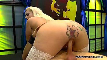 Busty candela x with piercing gets dp and bukkakes