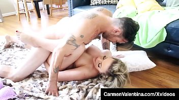 Face Fucked Carmen Valentina Gets Pussy Pounded On Floor!