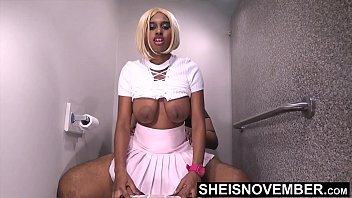 HD My Anxious Ebony Step Sister Couldn't Wait For Her Boyfriend, So She Fucked Me With Her Tight Ebony Pussy Mounting My BBC, Beautiful Sexy Blonde Ebony Msnovember Lift Her Skirt & Shirt To Ride Step Brother With Big Booty Bounce XXX Sheisnovemb