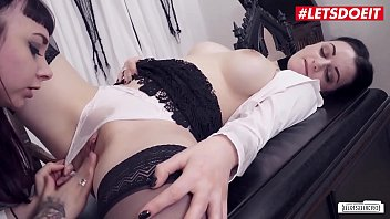 LETSDOEIT - Two Hot Teen Lesbians Are Having Sex Right On The Boss's Office (Leah Obscure & Alissa Noir)