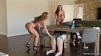 Isis Love, Abigail Mac - Enthusiastic Cleaning Lady Licks Guest Pussy