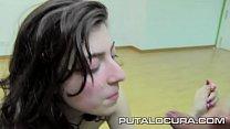La jovencita española Lina Morgana y sus fantasticas tetas de pezón rosa