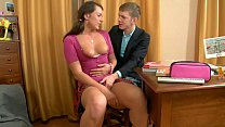 Tight Pussy Hot Schoolgirl Babe rides BF´s Big Cock instead of Studying
