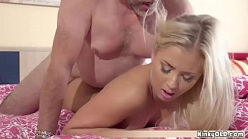 Teen slut seduces her old grandpa and fucks him