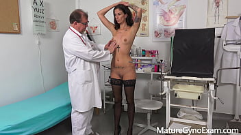 Slender MILF Ali Bordeaux made to cum by freaky doctor