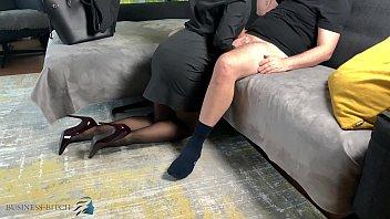 personal assistant handjob bouncing tits, Business Bitch