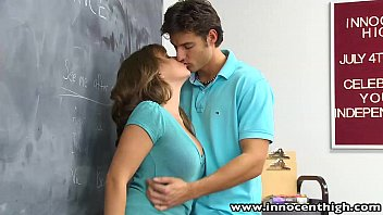 InnocentHigh Natural tits schoolgirl gets hairy pussy fucked