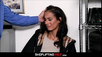 Petite Black MILF Kylie La Beau Caught Shoplifting Jewelry Fucked To Orgasm By White Officer 8 min