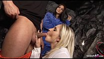 Hot MILF Boss Pay Worker with Sex Threesome with Secretary