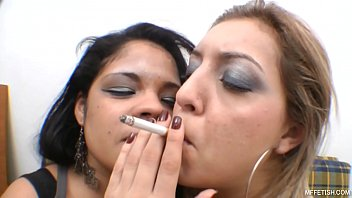 Smoking and Kiss -  Wet unstoppable tongues and plump lips 17 min