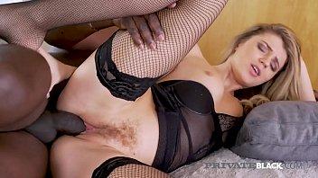 PrivateBlack - Hairy Pussy Mary Kalisy Rides Big Black Cock!