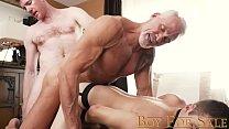 BoyForSale - Boyish twink fucked bareback by dominant daddy masters
