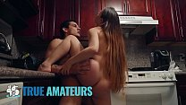 Athletic couple make pov sextape in kitchen - Trueamateur