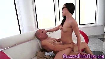 Teen fucks older man and gives head