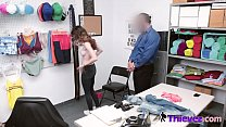 Rough sex for this tiny shoplifter teen that was caught red handed.