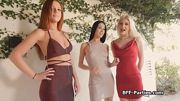 Birthday party escalates into a foursome