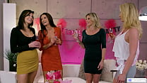 Lesbian Foursome At Bachelorette Party ( Lesbian MILFs )