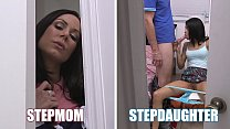 BANGBROS - Hot MILF Kendra Lust Threesome With Step Daughter Veronica Rodriguez
