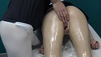 Blonde Russian Milf Decided to Go for Massage & Let The Masseur Spank & Fuck her Wet Pussy with his Fingers because her husband Cheats on her !