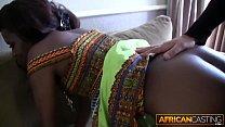 Sexy Ebony Sucks White Cock and Takes It Deep