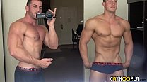 All American College Teen Jerks His Muscle Cock & Cums