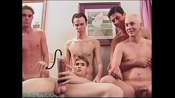 Five horny curious college lavenders agreed with great pleasure to test some toys for penis enlargement
