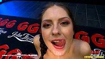 Petite Rebecca Volpetti gets deep dicking - Extreme Bukkake