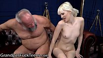 GrandpasFuckTeens Petite Delivery Girl Gets Rewarded For Her Service