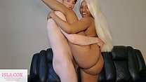 Cute Flexible Ebony IslaCox Gets Fucked POV Doggystyle by Huge White Cock