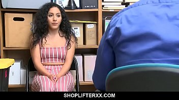 Curly haired babe obliged to suck off her boss