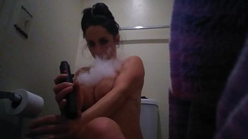 Busty girl smoking Meth