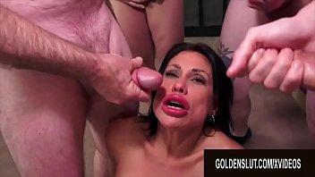 Golden Slut - Mature Blowbang Compilation Part 2