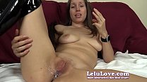 She gets pounded doggystyle to creampie while taunting YOU - Lelu Love