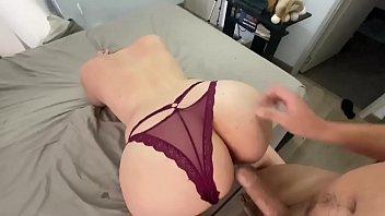 Pervert step son needs help with his dick erection (double creampie)