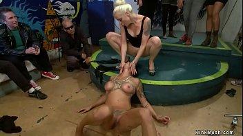 Big tits tied slut public d.