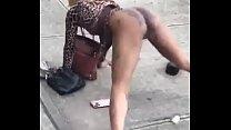 Street hoe exposing herself