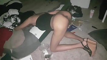 thot get back shots in a dirty ass room