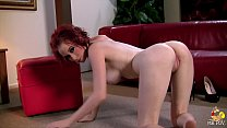 Redhead TEEN TRAMP has SHAVED CUNT and PERFECT NATURAL TITS so she'll SUCK and FUCK for TWO LOADS!