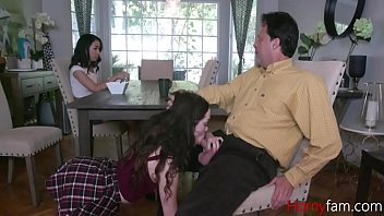 Daddy Tries To Fuck Both The Daughters- Aliya Brynn And Jackie Rogen 8 min