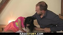 brunette wife takes his hardcore banging
