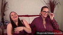 Casting Gem and Zia big tits Desperate Amateurs group fun