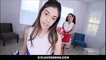 Petite Latina Teen Stepsister h. Cheerleader Harmony Wonder Threesome With Her Best Friend Aria Skye And Stepbrother POV