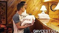 GAYCEST - Hung uncle fucks his twink nephew bareback in sauna