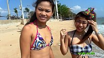 TukTukPatrol Cum Shower On Slutty Asian Beach Friends