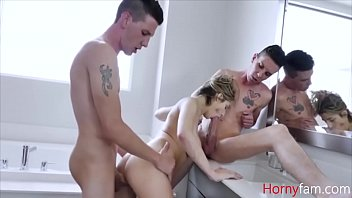 Brothers Take Advantage Of Sister In Shower- Sarah Bella