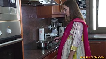 Newly married Indian bhabhi strips her salwar and loses her virginity with devar ji