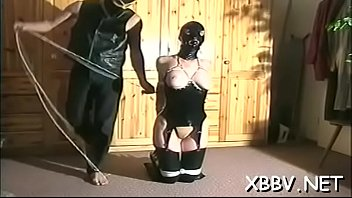 Filthy maid is doing a strip -tease